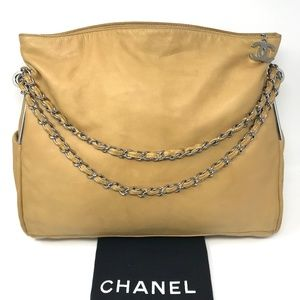 CHANEL Beige Quilted Lambskin Ultimate Soft  Bag